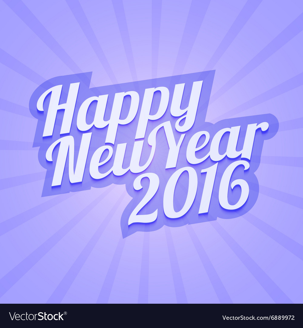 Happy New Year 2016 with calligraphic