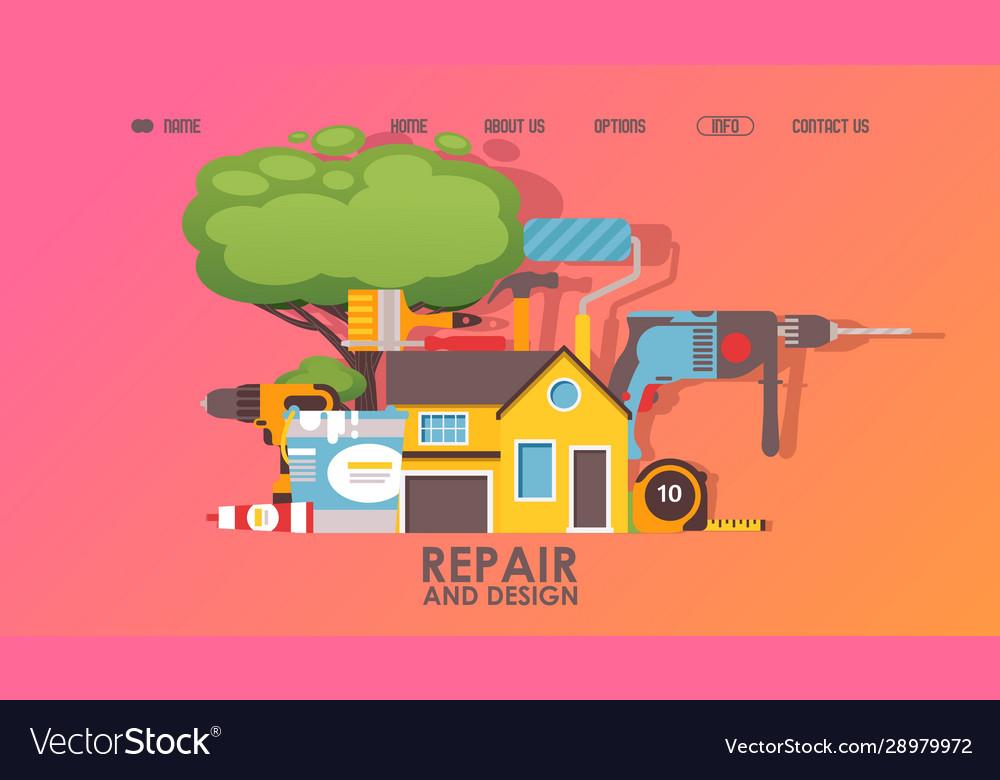 House repair service website design