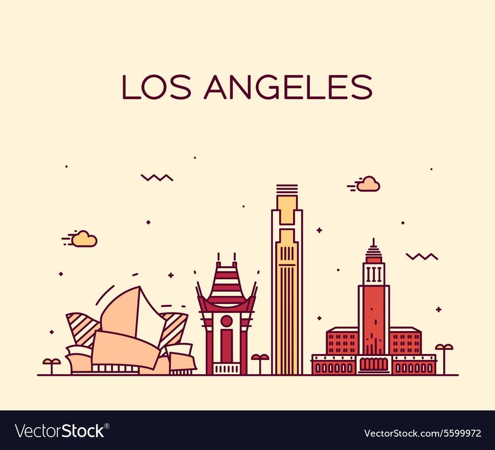 Los Angeles skyline linear