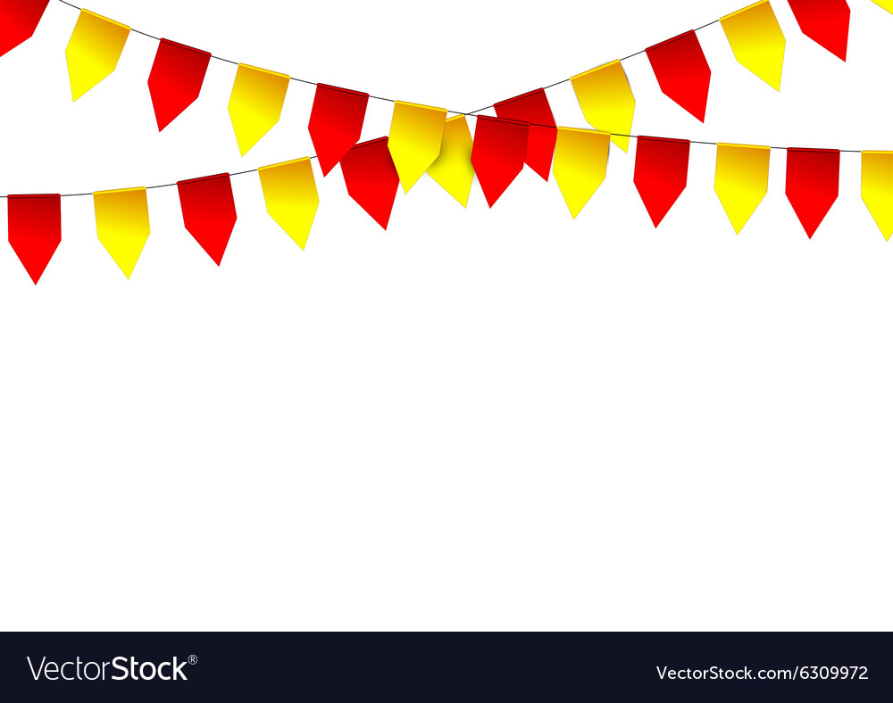 Party colorful flags