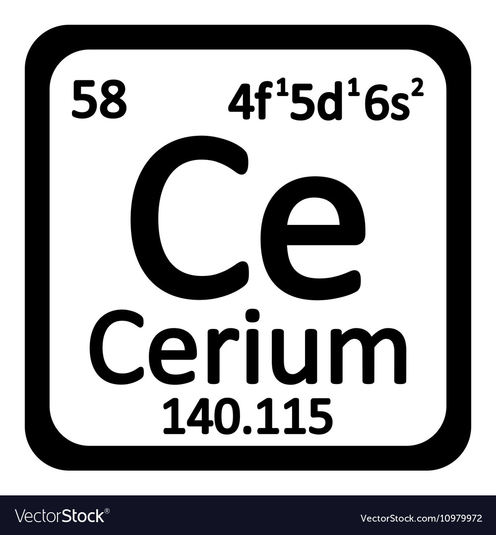 Periodic table element cerium icon royalty free vector image periodic table element cerium icon vector image urtaz Images