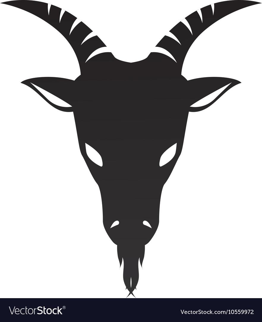 Ram Goat Horn Capricorn Zodiac Sign Royalty Free Vector