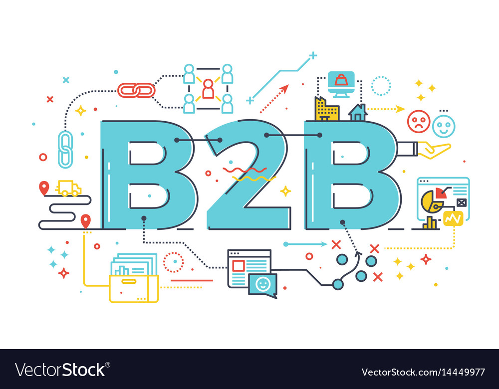 B2b business to business word