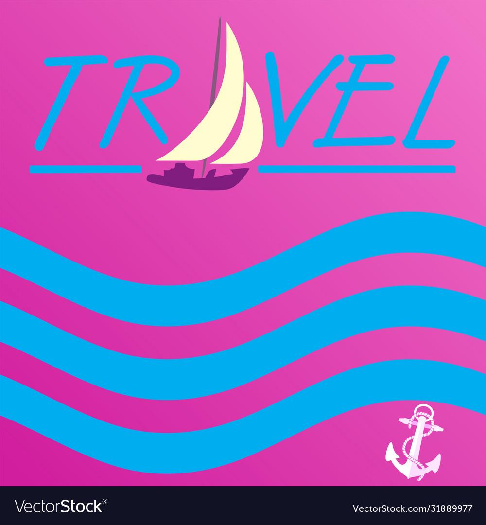 Background sea yacht