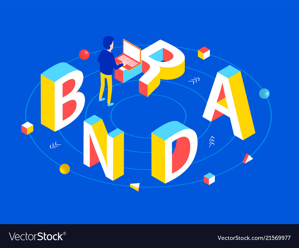 Brand isometric design concept