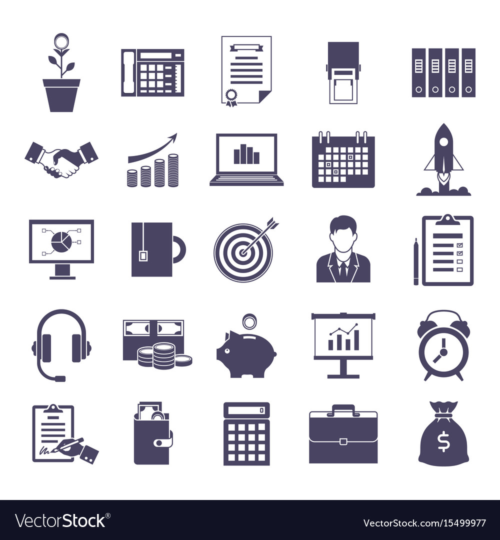 Business simple icons set