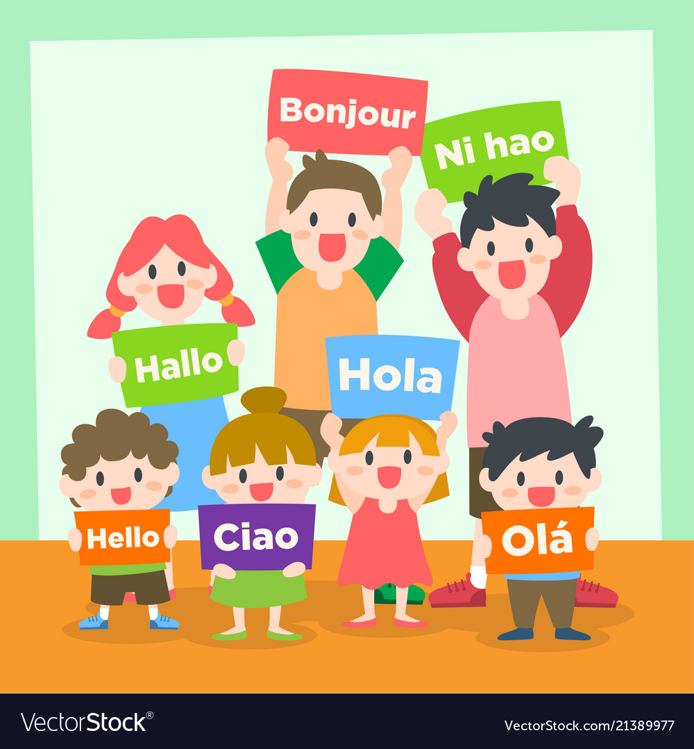 Children learning various language