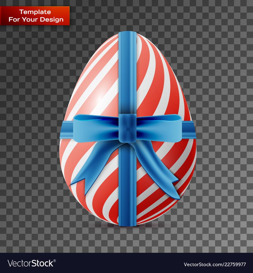 Happy easter egg on transparent background