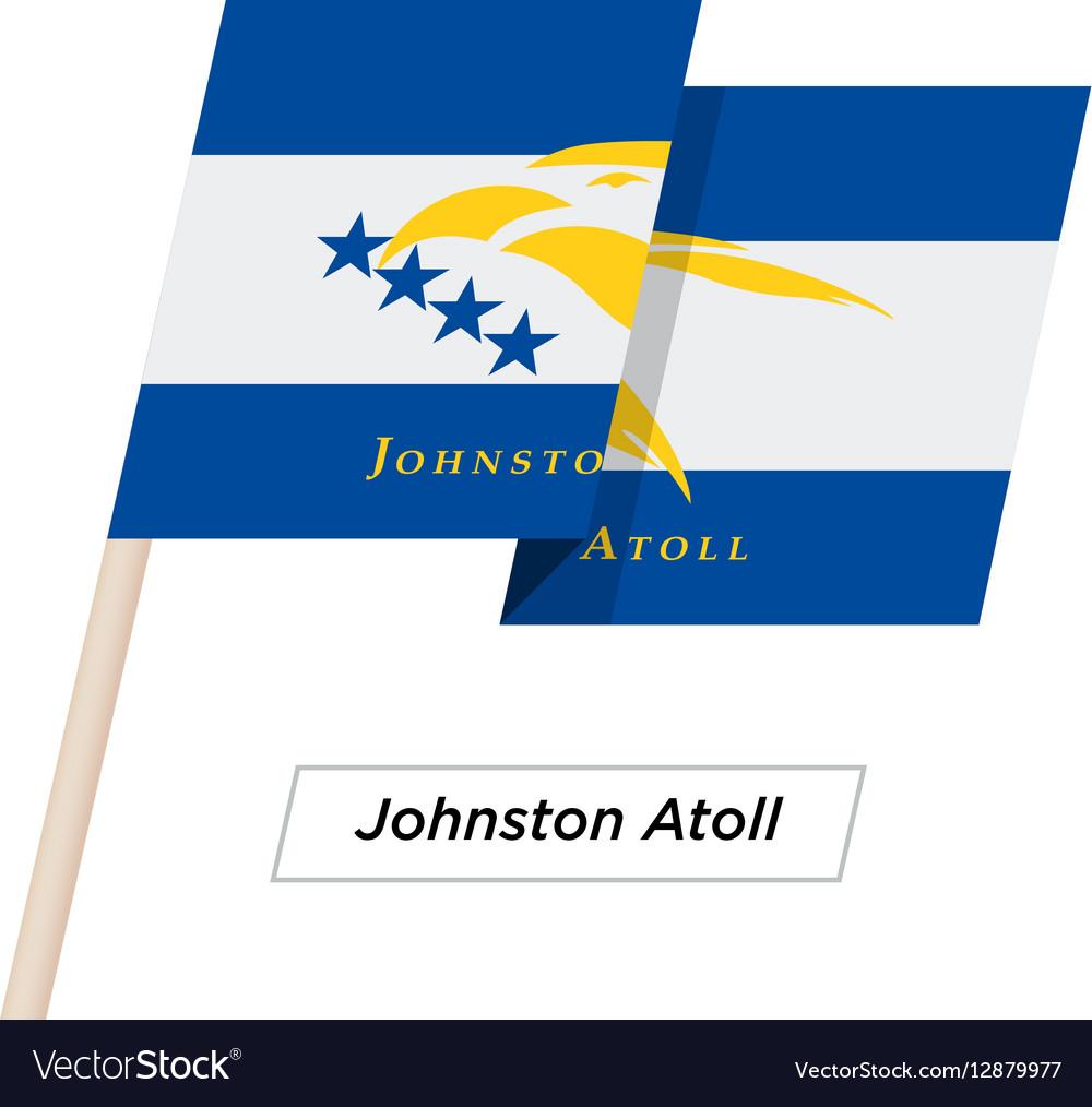 Johnston Atoll Ribbon Waving Flag Isolated on vector image