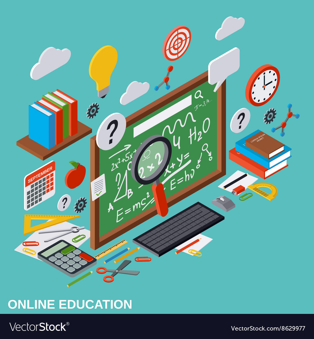 Online education learning teaching concept