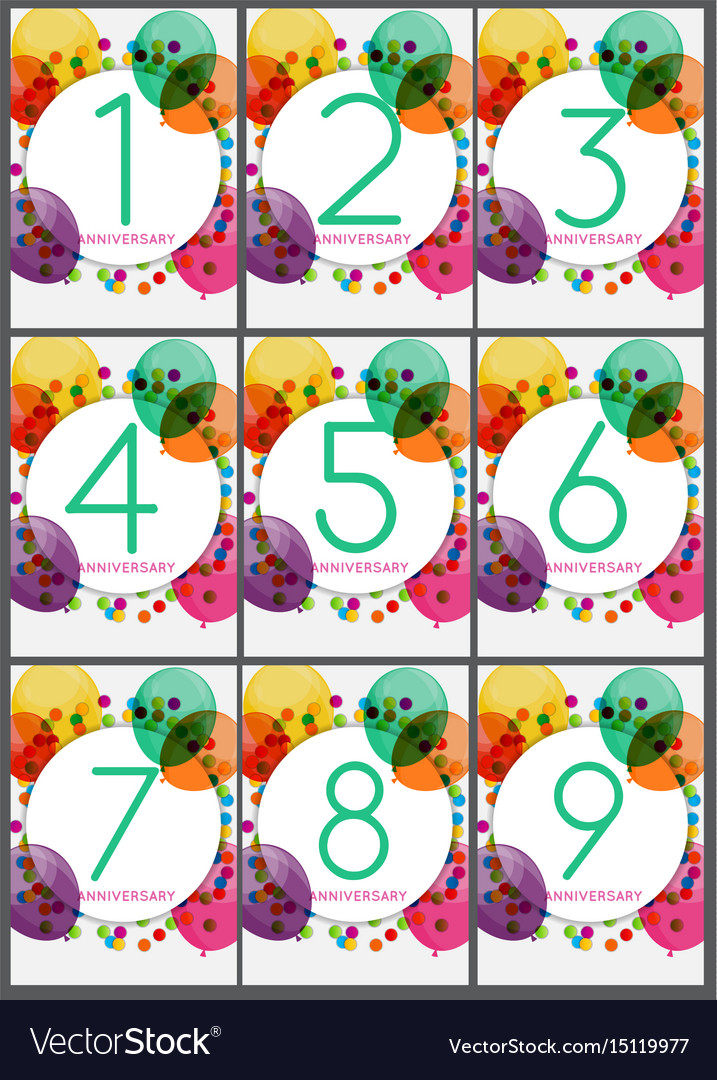 Template anniversary congratulations greeting vector image