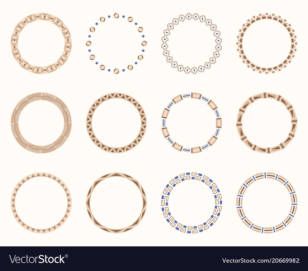 Abstract round frames set