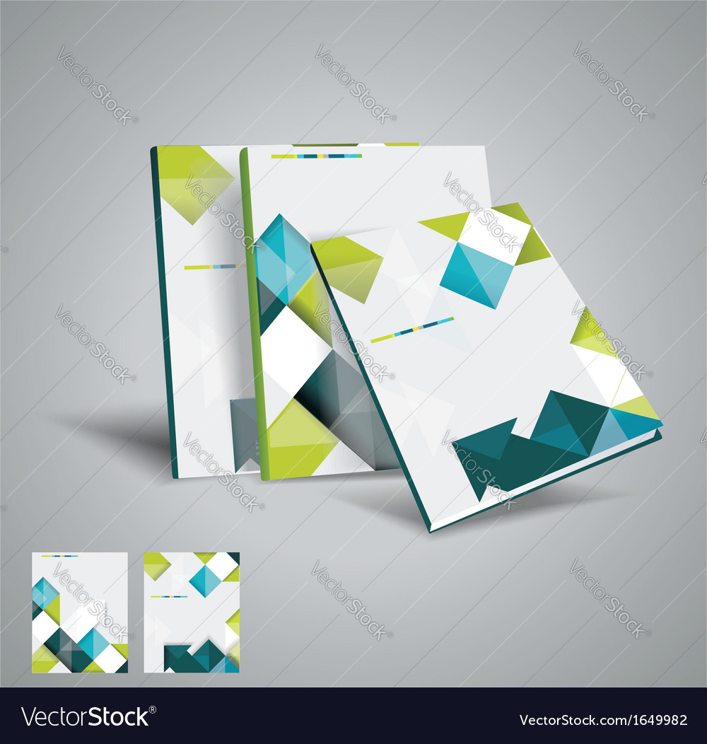 Brochure template design with cubes and arrows