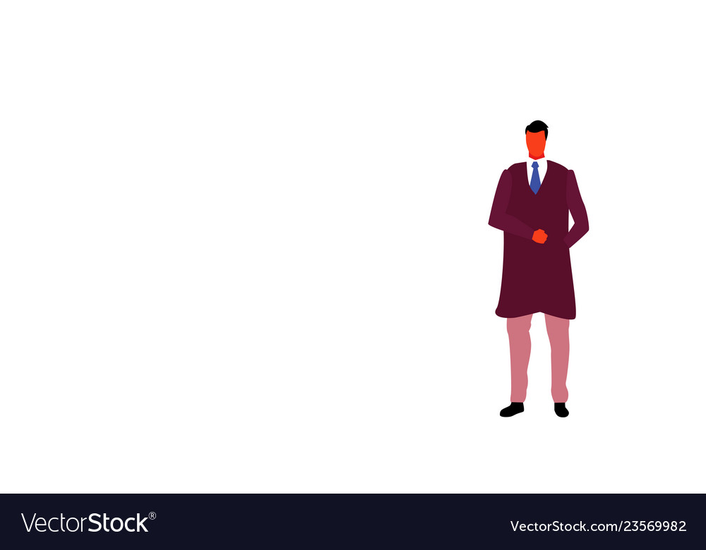 Casual businessman hand in pocket male office