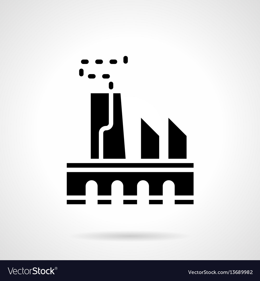 Power industry glyph style icon