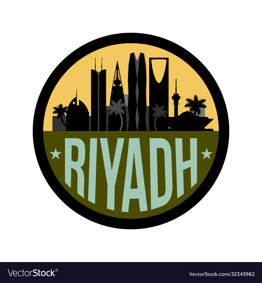 Riyadh saudi arabia city skyline silhouette icon