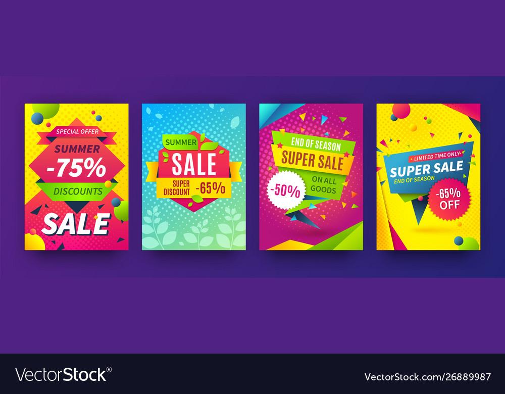 Banner sale poster promotion flyer discount