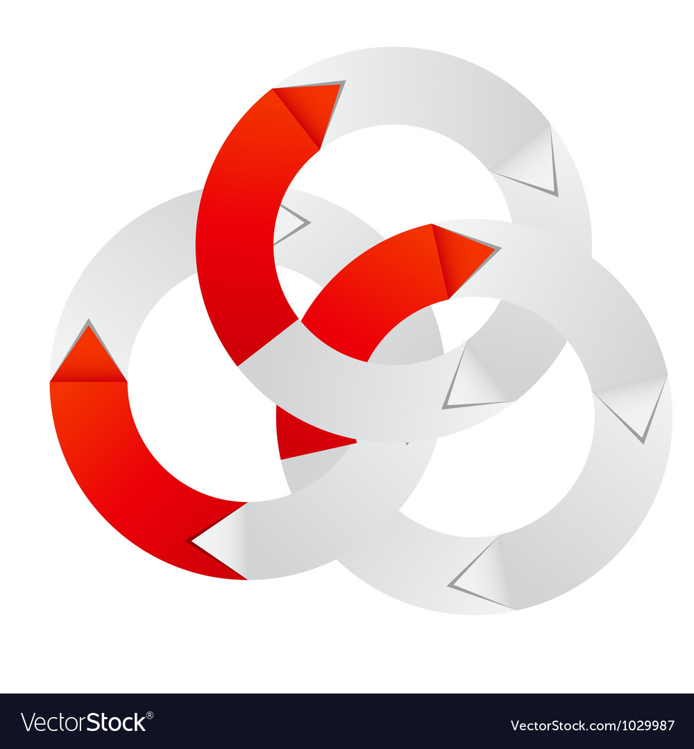 concept of colorful circular banner with arrows vector image