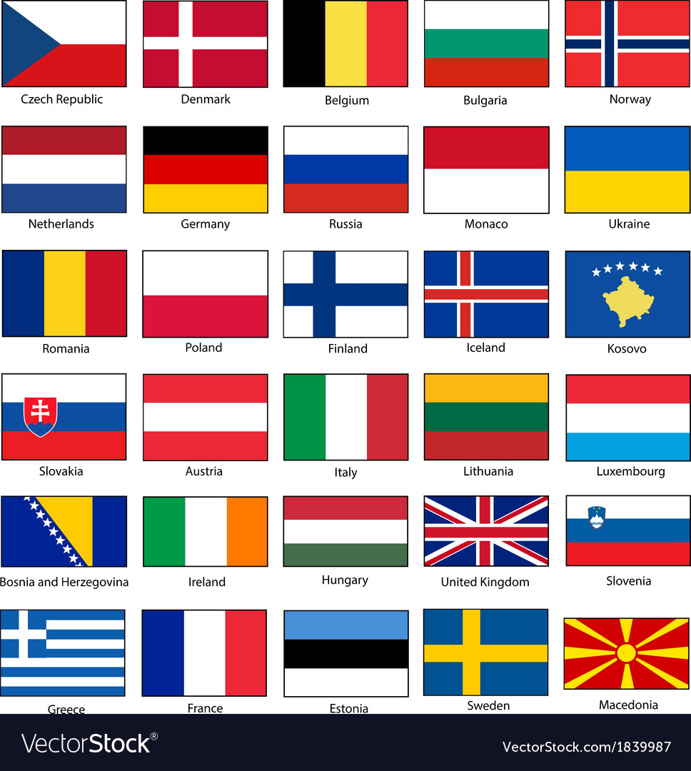 Flags of Europe Set
