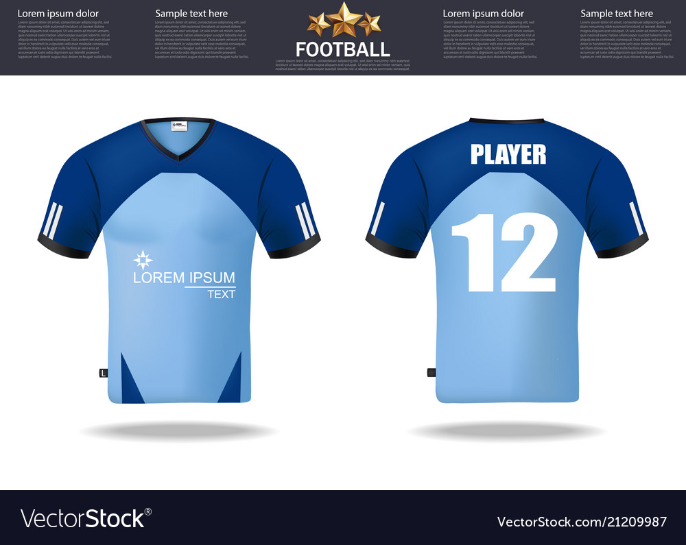 Football T Shirts Design Template For Royalty Free Vector