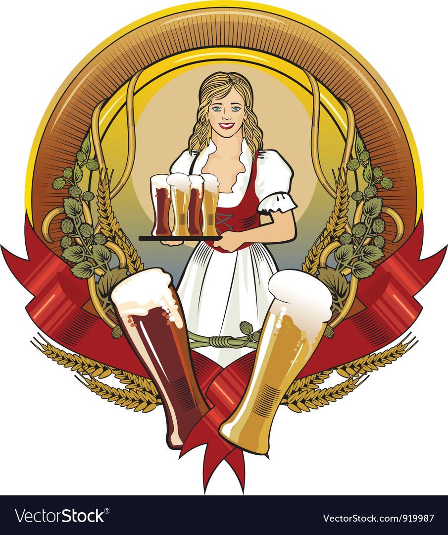 Girl beer waitress radial