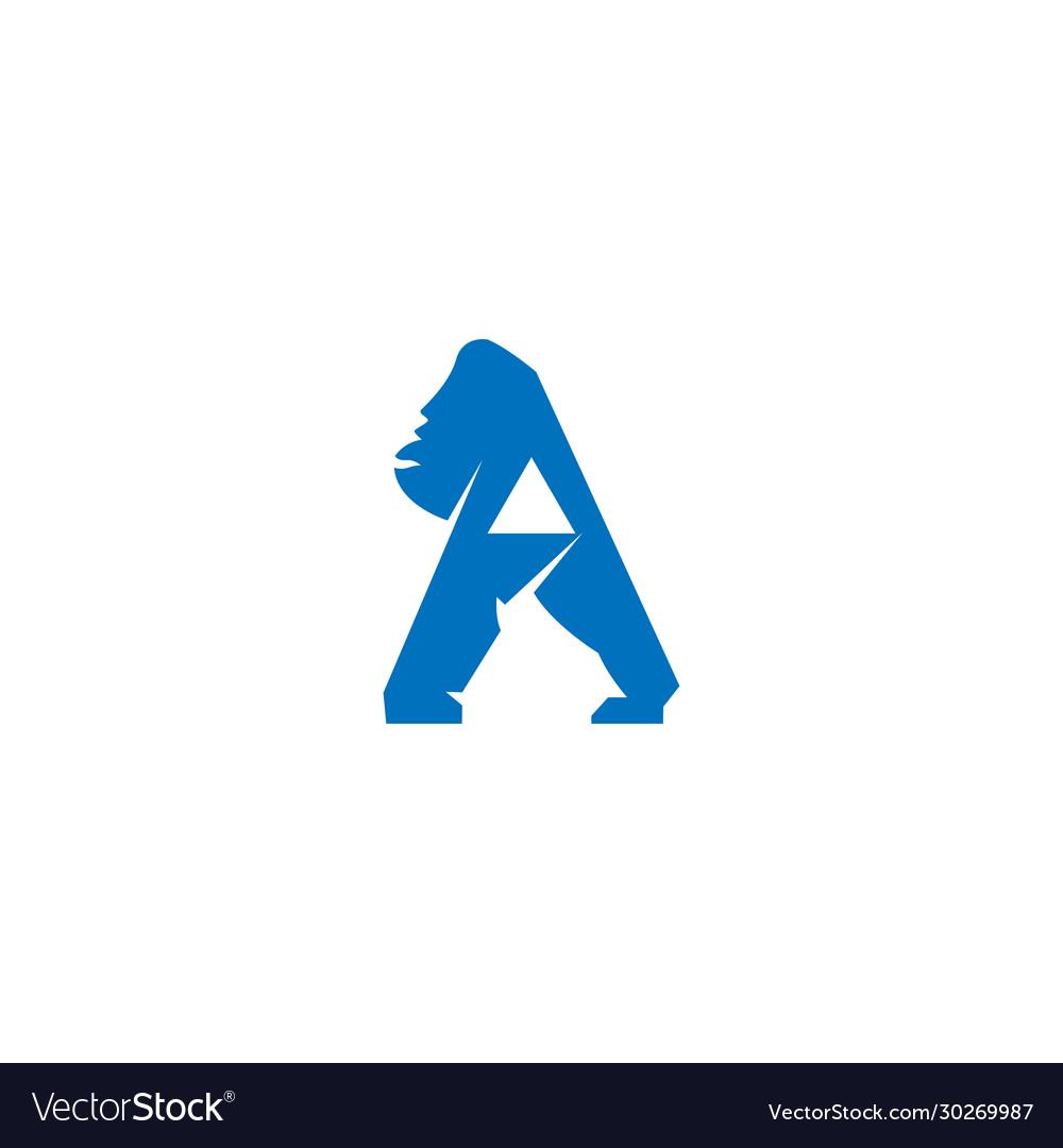 Gorilla letter a logo