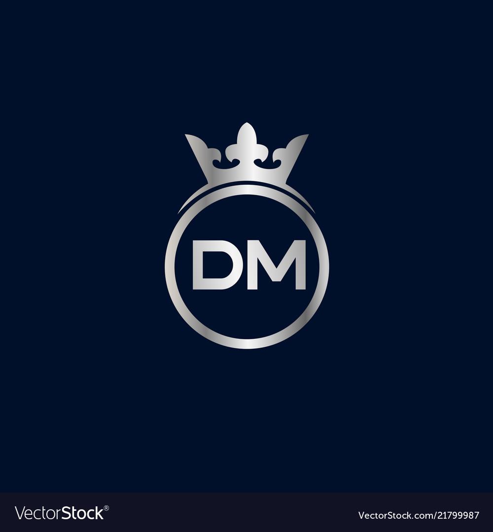 Initial Letter Dm Logo Template Design Royalty Free Vector