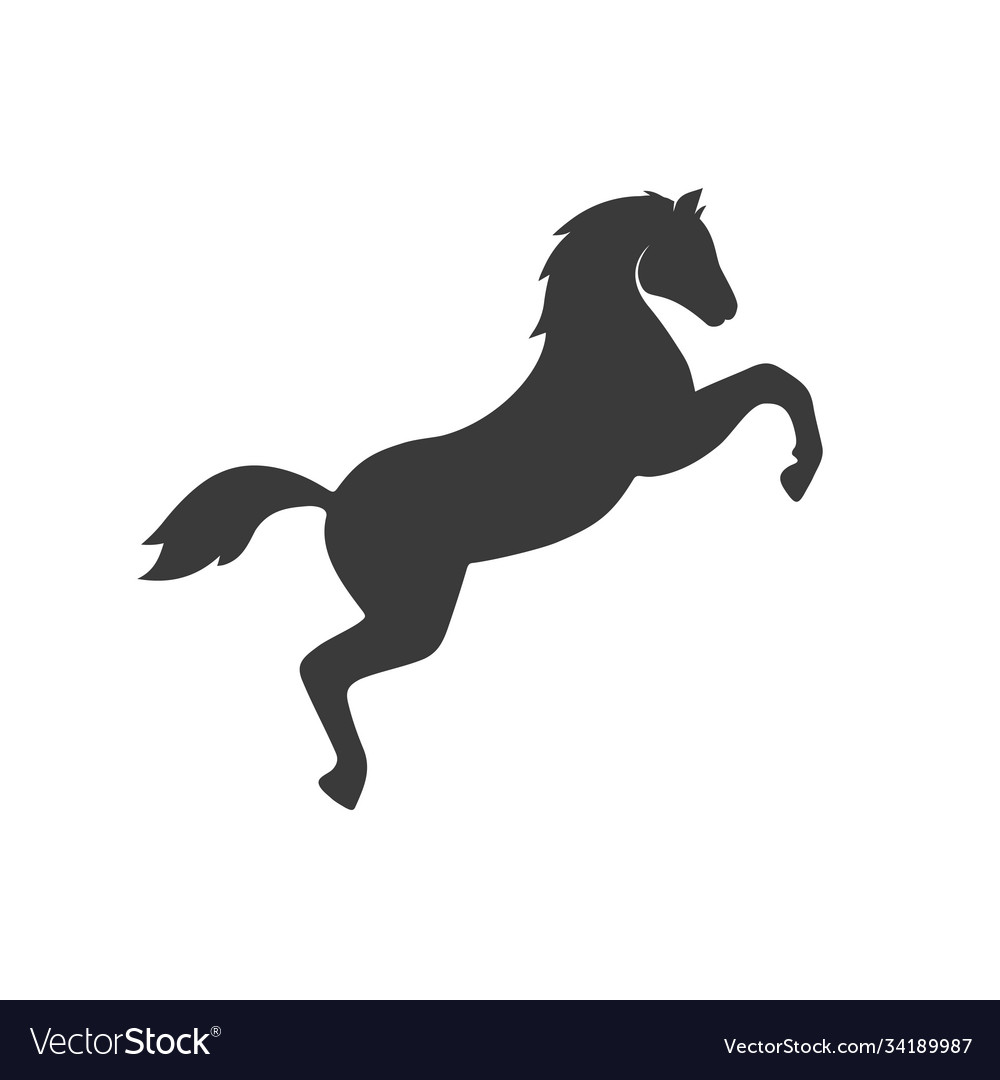 Jumping horse icon images
