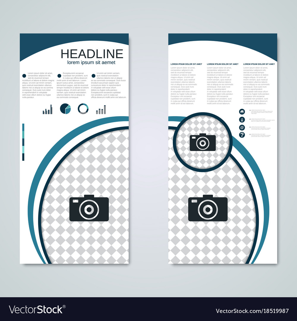 Modern roll-up business banner template