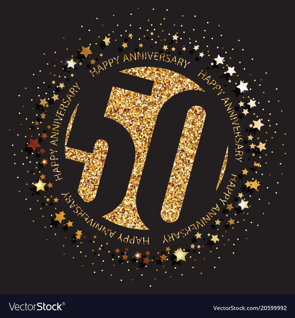 Happy 50th Birthday Logo