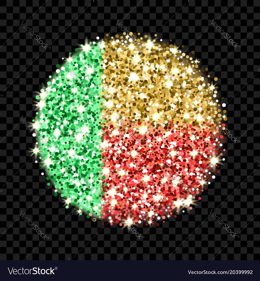 Benin flag sparkling badge