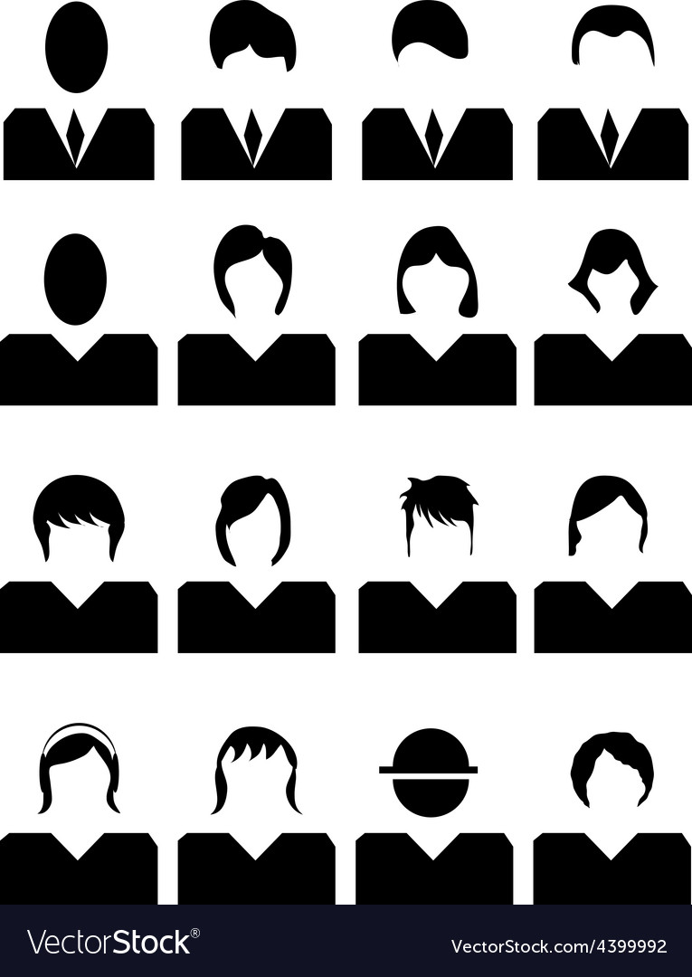 People avatar icons set