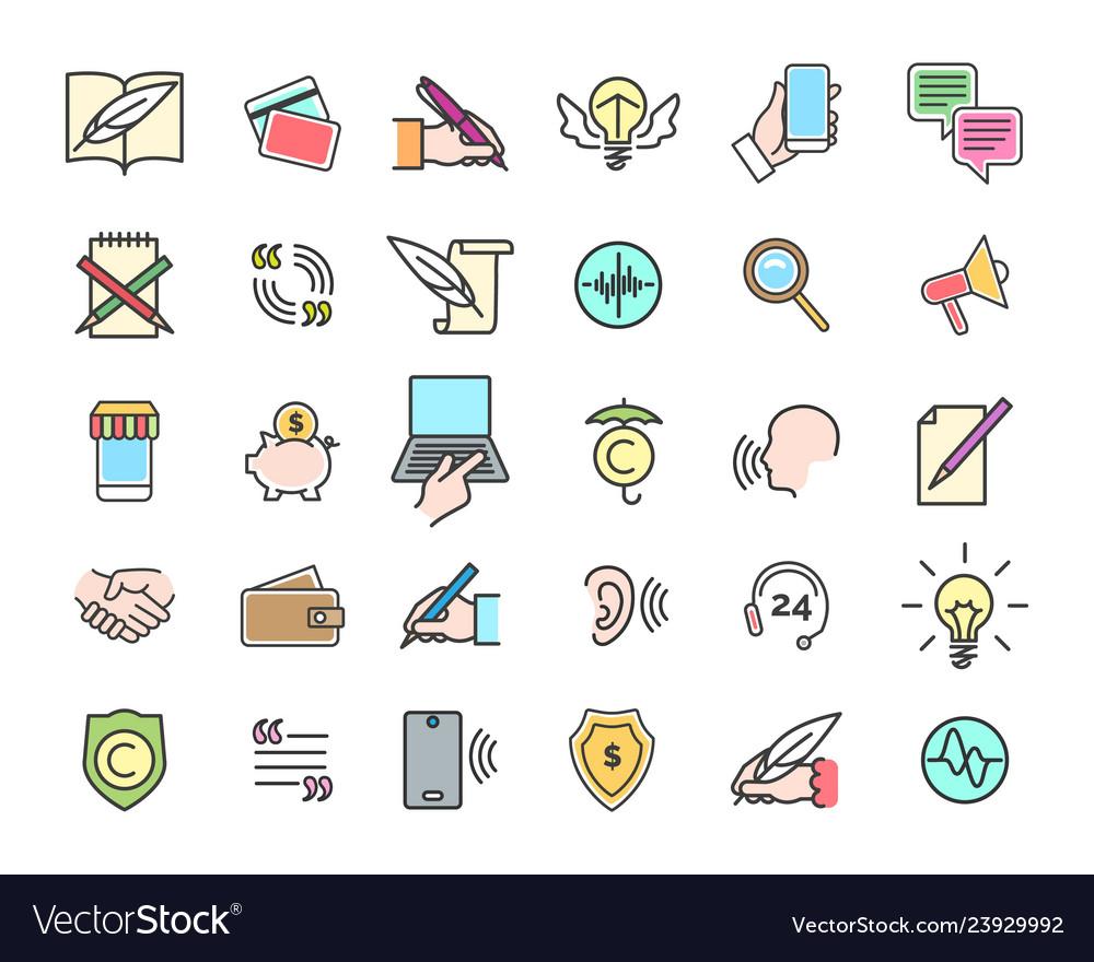 Viral marketing icons