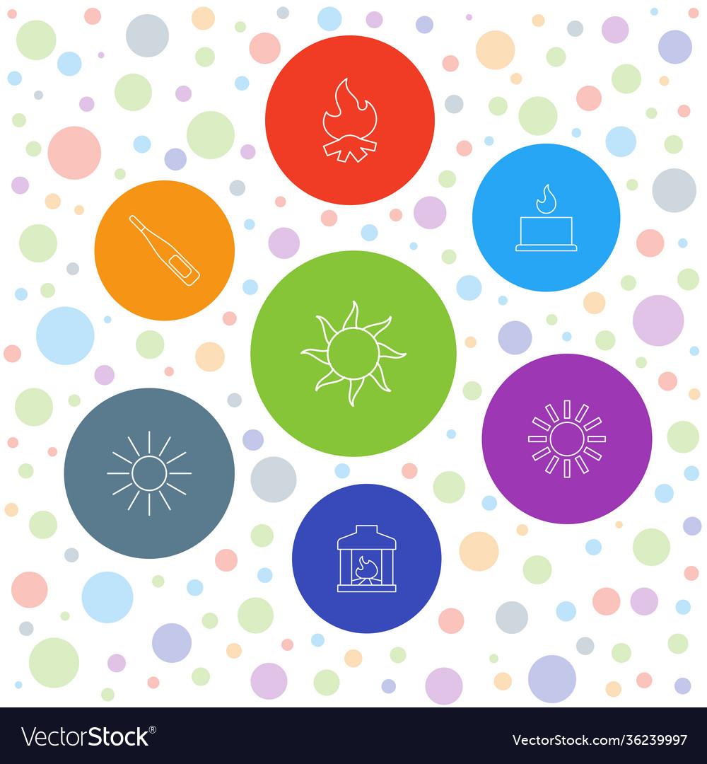 7 heat icons