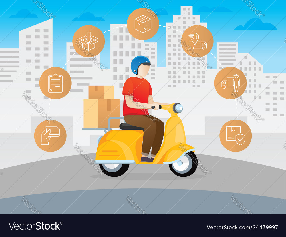 Delivery courier scooter