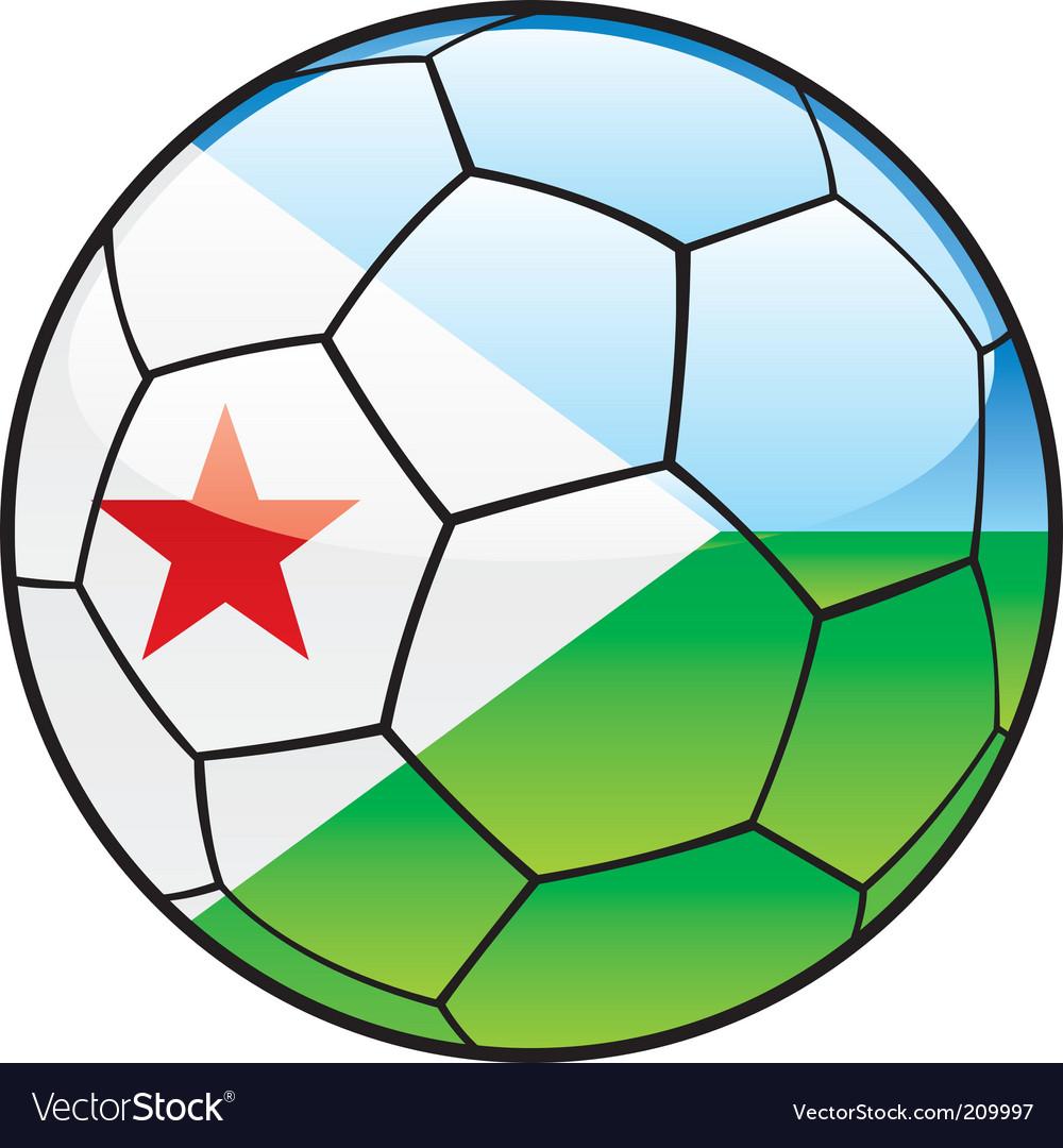 Djibouti flag on soccer ball