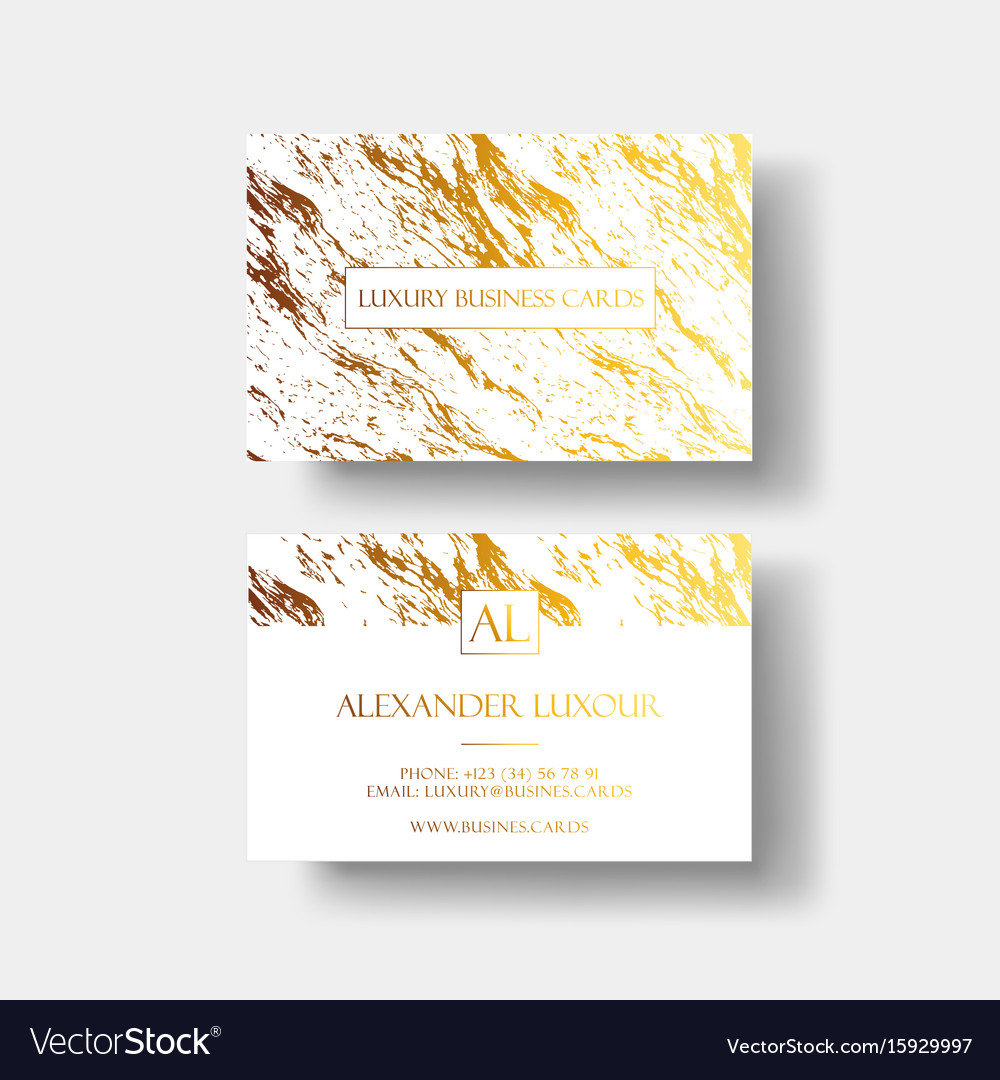 Luxury business cards template banner and vector image colourmoves
