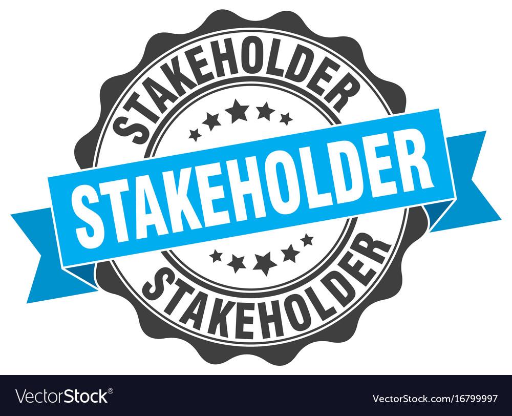 Stakeholder stamp sign seal