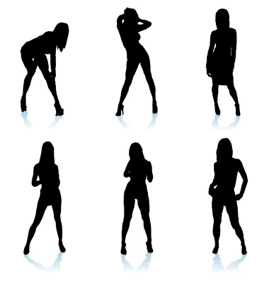 Sexy Woman Silhouette Vector. Artist: nicemonkey; File type: Vector EPS