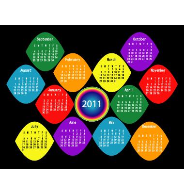 2011 Calendar Template Vector. Artist: apotterdd; File type: Vector EPS