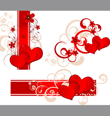 Valentines Day Banner Set Vector. Artist: japonka; File type: Vector EPS