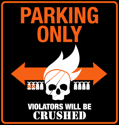 cleveland skyline vector. Parking Sign Vector.