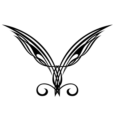 Wings Tattoo Design Elements Vector. Artist: galina; File type: Vector EPS