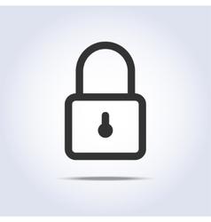 Closed lock icon vector image vector image