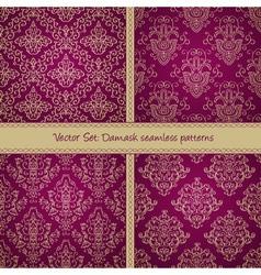 Damask floral textile patter vector image