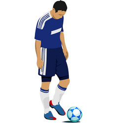 football player preparing to kick punch colored vector image vector image