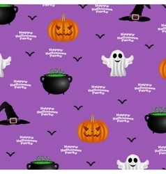 Halloween pattern on a purple background vector image vector image
