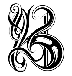 Letter B calligraphic vector image vector image