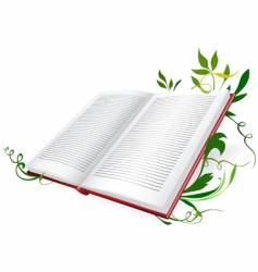 opened diary vector image vector image