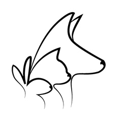 Pets heads logo vector image
